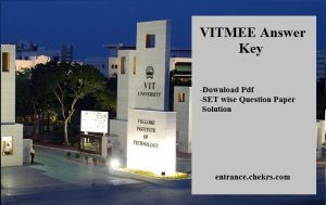 VITMEE Answer Key, Download Pdf SET A B C D Question Paper Solution
