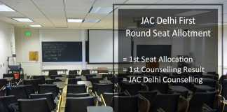 JAC Delhi First (1st) Round Seat Allotment, Counselling Result (Released)
