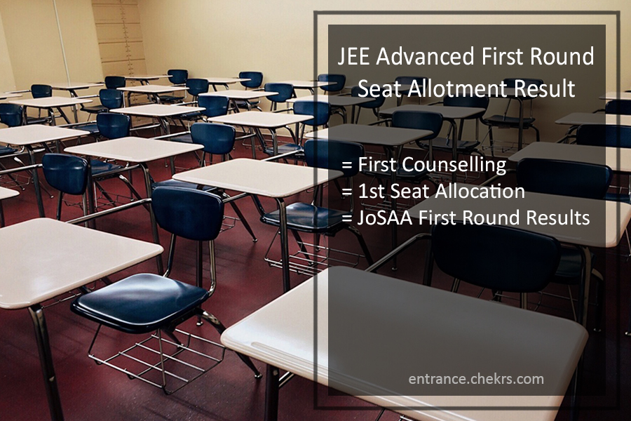 JEE Advanced First Round Seat Allotment Result - 1st Counselling Result (Declared)