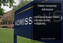 JIWAJI University Admission UG PG Online Form, Entrance Exam Dates