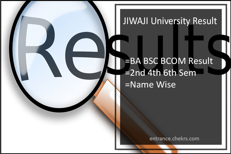 JIWAJI University Result BA BSC BCOM MA 2nd-4th-6th Semester Results