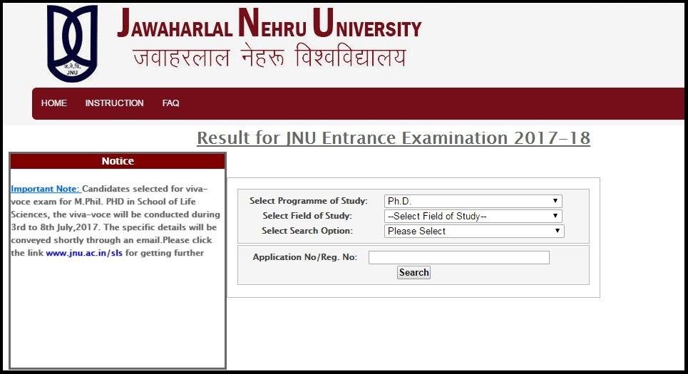 JNU Science Entrance Exam Result Released for Viva Voce (3rd-8th) July