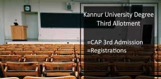 Kannur University Degree Third Allotment, CAP 3rd Admission @kannuruniversity.ac.in