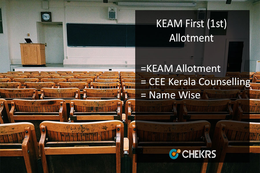 KEAM Allotment - CEE Kerala First (1st) Allotment Result @cee-kerala.org
