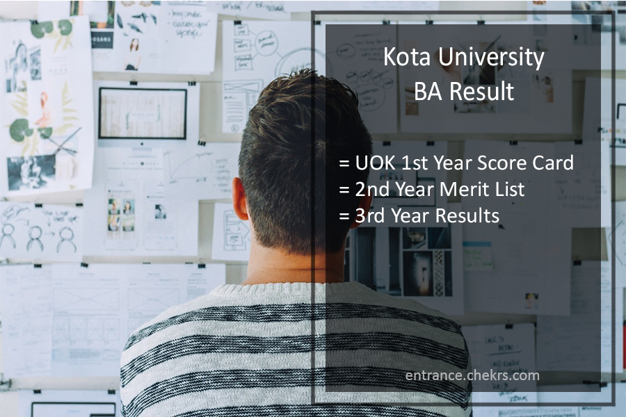 Kota University BA Result - UOK Part 1st, 2nd, 3rd Year Results