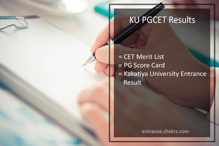 KU PGCET Results - Kakatiya University PG Common Entrance Test Result Declared