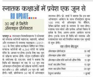 maharani college jaipur aipur1st 2nd 3rd Cut Off List