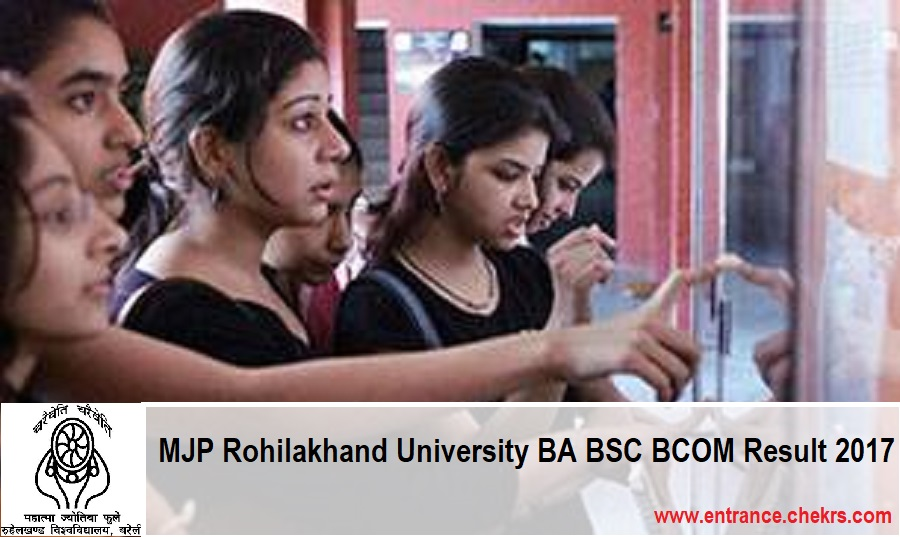 MJPRU Result 2017- Rohilakhand University BA BSC BCOM Results