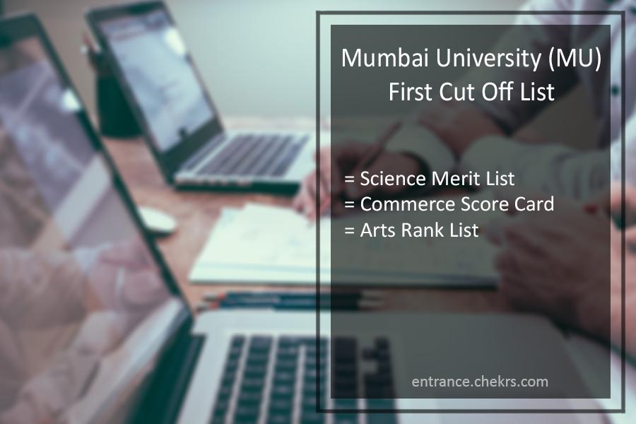 Mumbai University (MU) First Cut Off List Arts Science Commerce Merit List Released