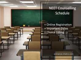 NEET Counselling Schedule Released- Online Registration @cbseneet.nic.in