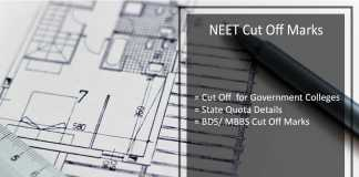 NEET, Cut Off Marks for Government College, State Quota, BDS/ MBBS