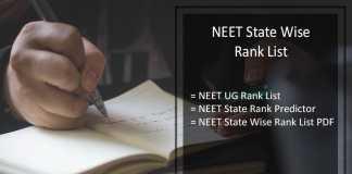 NEET State Wise Rank List, cbseneet.nic.in State Rank Predictor