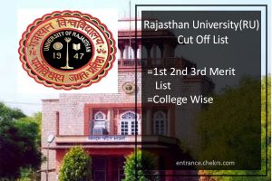 Rajasthan University Cut Off List - RU 1st 2nd 3rd Merit List