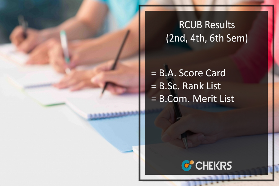 RCUB 2nd 4th 6th Sem Results , BA BSC BCOM (UG) Result Download
