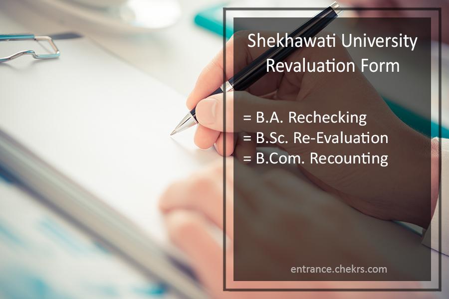 Shekhawati University Revaluation Form 2018- BCOM BA BSC Rechecking / RTI Form
