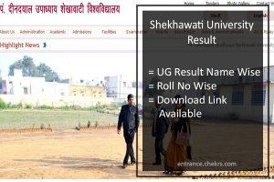 Shekhawati University Result- BA B.Sc B.Com 1st-2nd-3rd Year Result
