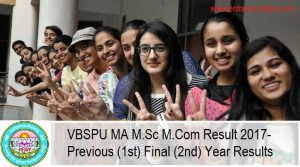 VBSPU MA M.Sc M.Com Result, Previous (1st) Final (2nd) Year Results