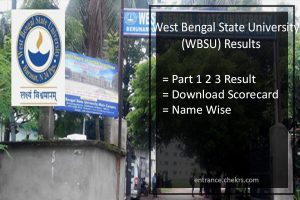 WBSU Results- West Bengal State University Part 1 2 3 Result Download
