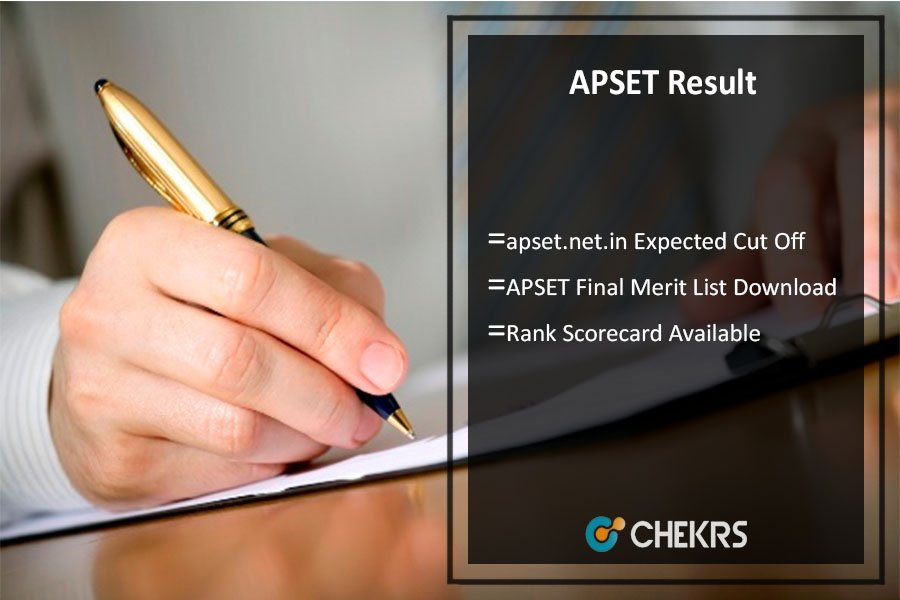 APSET Result, apset.net.in Cut Off, Merit List, Rank Scorecard Available