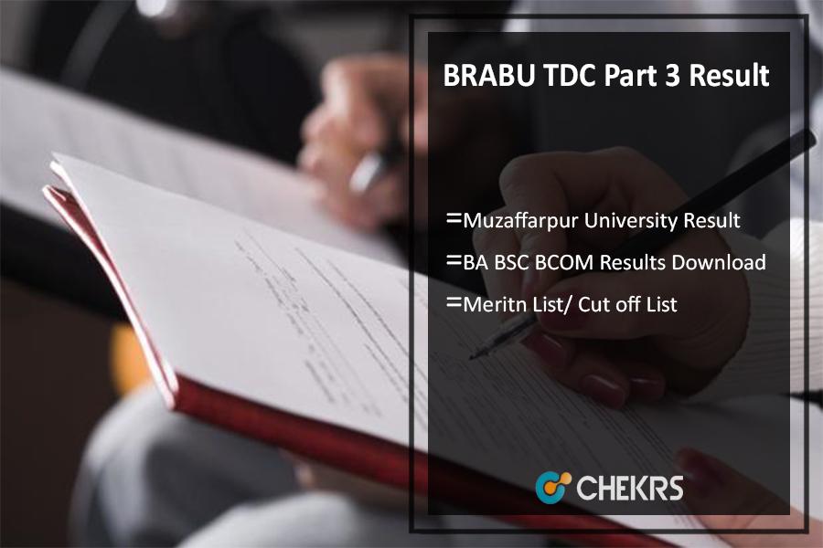 BRABU TDC Part 3 Result, Muzaffarpur Univ BA BSC BCOM Results Download