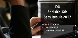 Delhi University 2nd-4th-6th Semester Result, BA BSC BCOM @du.ac.in