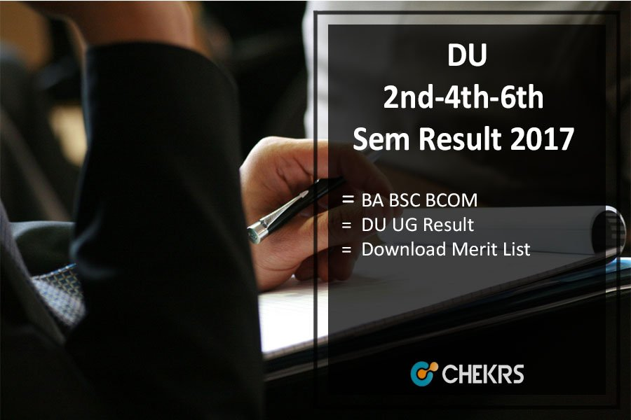 Delhi University 2nd-4th-6th Semester Result, BA BSC BCOM @du.ac.in