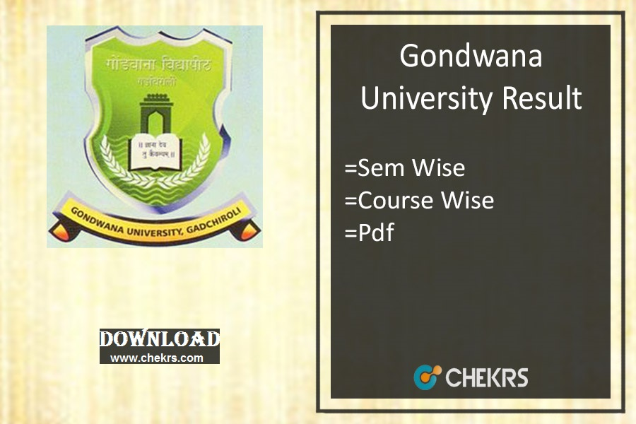 Gondwana University Result Summer 2020