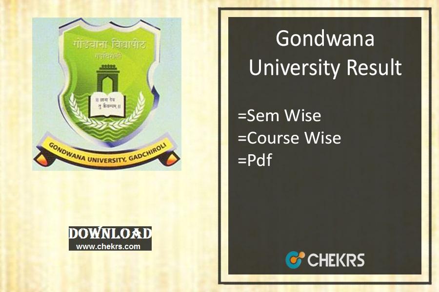 Gondwana University Result Summer- 1st 3rd 5th Sem Results