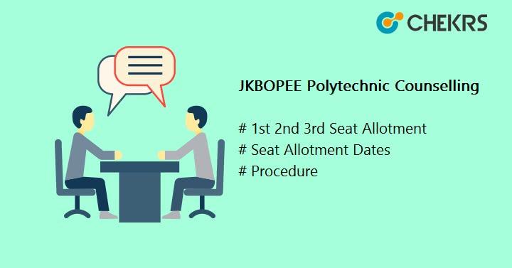 JKBOPEE Polytechnic Counselling 2020