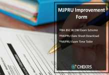 MJPRU Improvement Form, BA BSC BCOM Exam Scheme/ Date Sheet Download