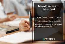 Magadh University BA BSC BCOM Admit Card Part 1 2 3 Exam Dates Available