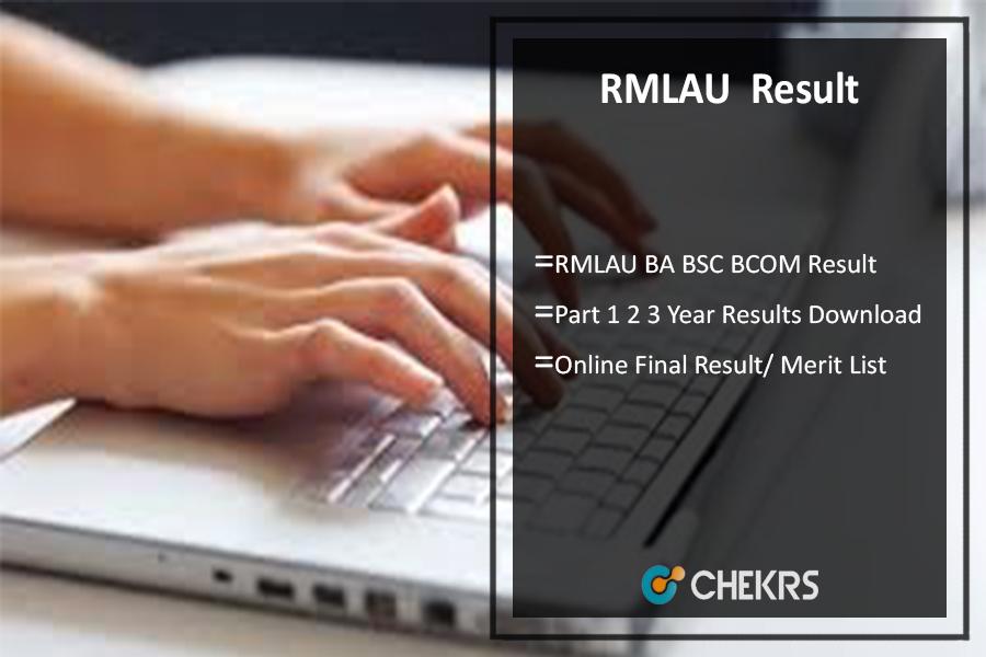 RMLAU BA BSC BCOM Result, Part 1 2 3 Year Results @rmlauexams.in