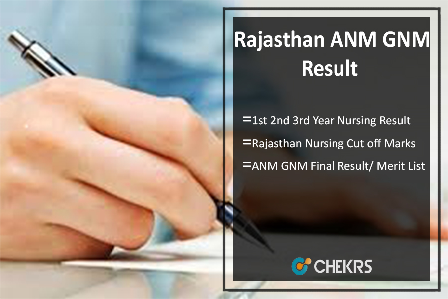 Rajasthan ANM GNM Result, 1st 2nd 3rd Year नर्सिंग परिणाम Download