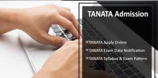 TANATA, Apply Online till 31st July, Exam Date, Syllabus Available