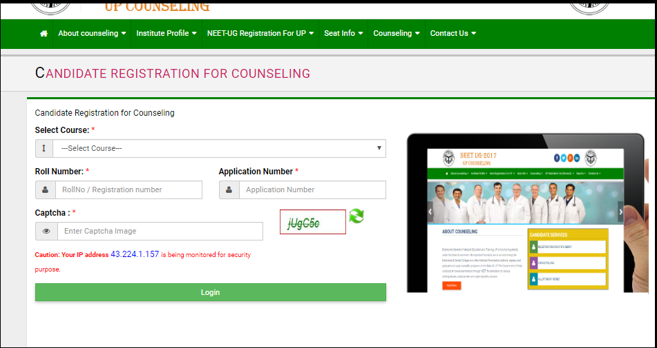 UP NEET Counselling. MBBS Application Form, Cut Off Marks, Merit List