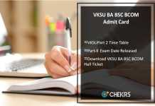 VKSU BA BSC BCOM Admit Card, Part 2 Time Table, Exam Date Released