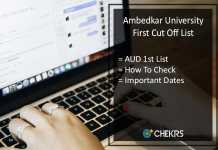 Ambedkar University Delhi First Cut Off (Released) @aud.ac.in