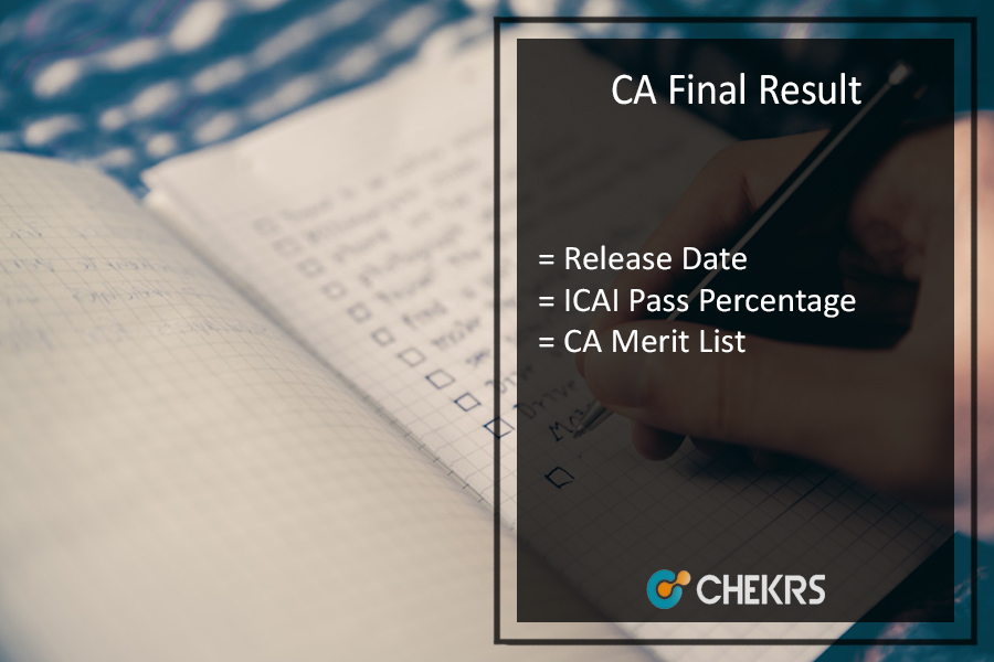 CA Final Result May - ICAI Pass Percentage, 18th July Merit List