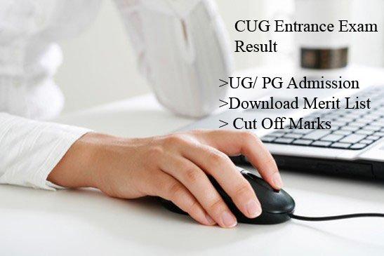 CUG Entrance Exam Result, UG PG Cut Off, Merit List @cug.ac.in