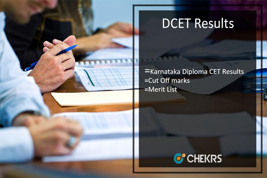 DCET Results, Karnataka Diploma CET Results, Cut Off, Merit List @kea.kar.nic.in