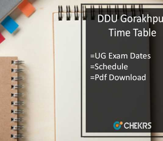 DDU Time Table - BA BCom BSc 1st/2nd/3rd Year Exam Dates