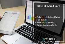 DECE LE Admit Card, Download Bihar Polytechnic Lateral Entry, Exam Dates