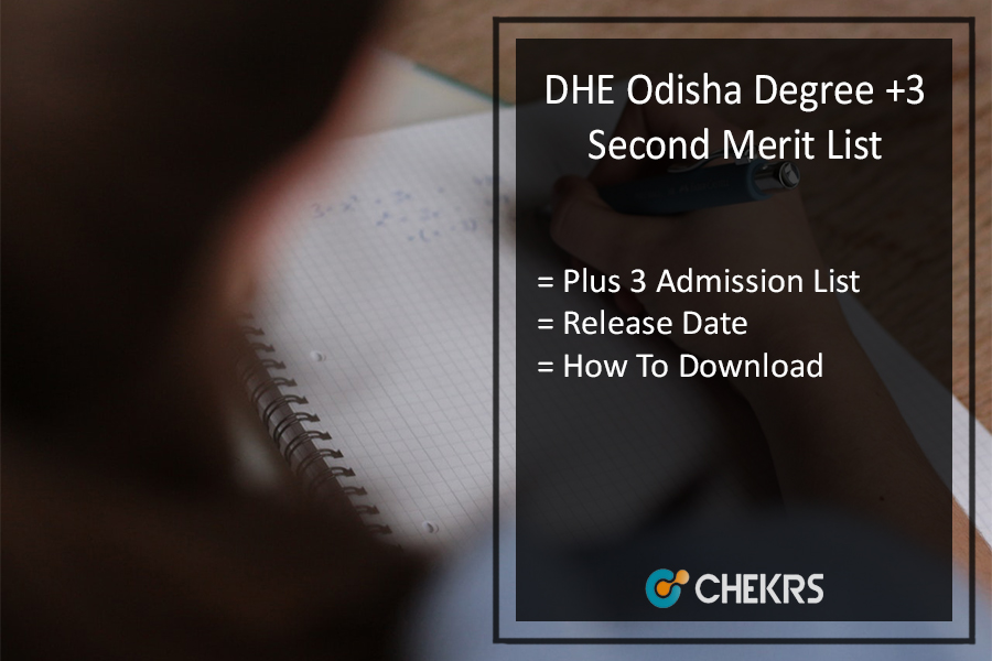 DHE Odisha Degree +3 Second Merit List 2021
