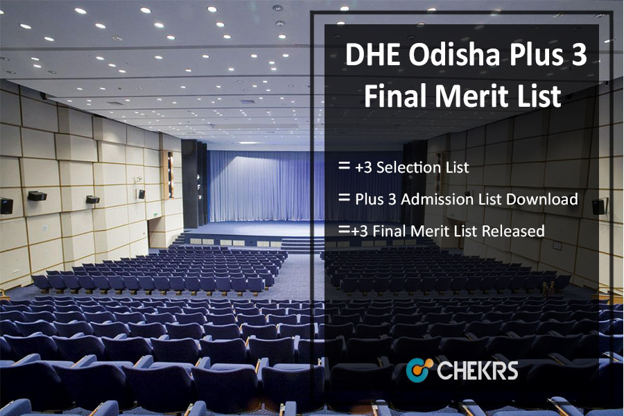Plus 3 Third Selection List- DHE Odisha +3 Final Allotment Released