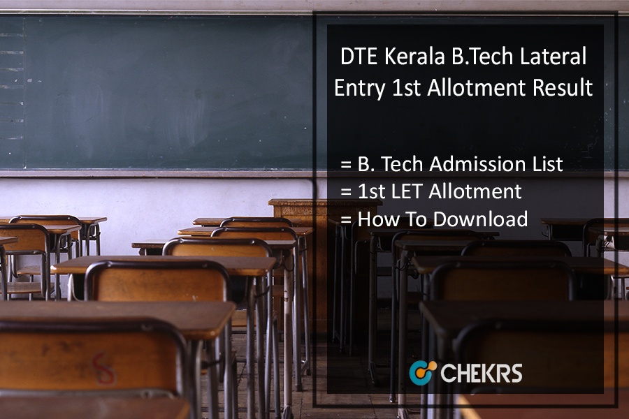 DTE Kerala B.Tech Lateral Entry (LET) First Allotment, Result @admissions.dtekerala.gov.in