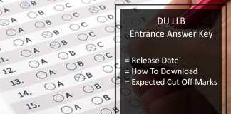 DU LLB Entrance Answer Key (Released)- Expected Cut Off @du.ac.in
