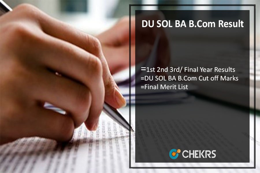 DU SOL BA B.Com Result, 1st 2nd 3rd/ Final Year Results @sol.du.ac.in