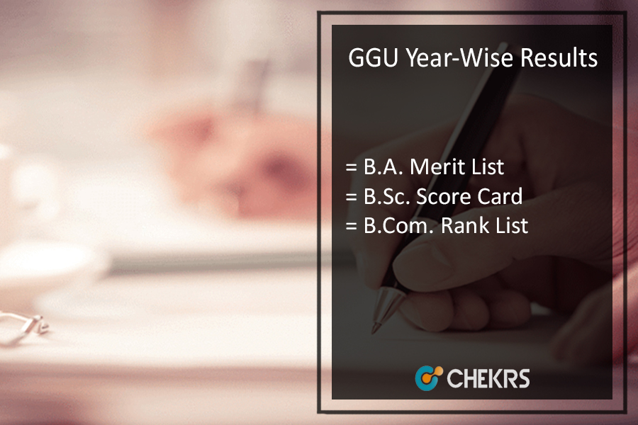GGU Result - Bilaspur BA BSC BCOM Part 1 2 3 Year Wise Results
