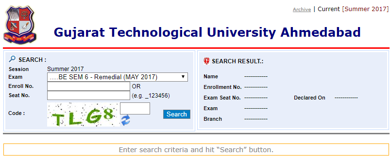GTU Result 2019 {Released}1st 3rd 5th 2nd 4th 6th 8th Sem