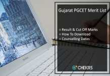 Gujarat PGCET Merit List - Result, Cut Off Marks, Counselling Dates